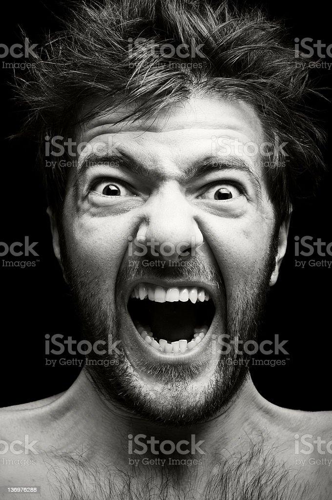 Splash in emotions stock photo