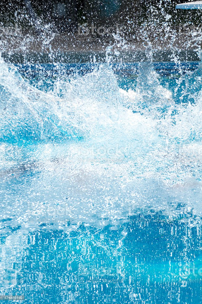 Splash in pool stock photo