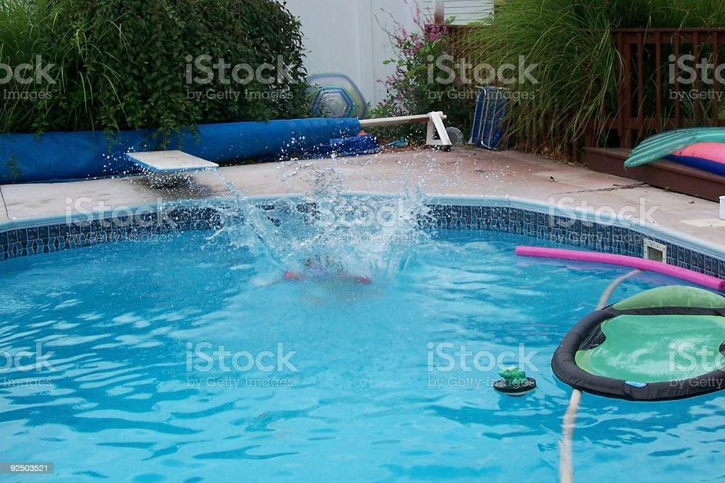 splash in pool royalty-free stock photo