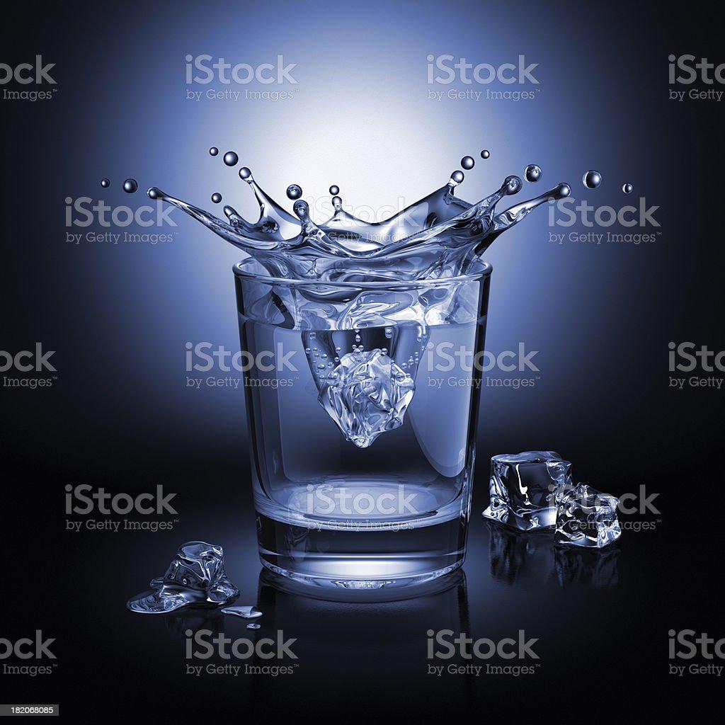 Splash In The Glass royalty-free stock photo