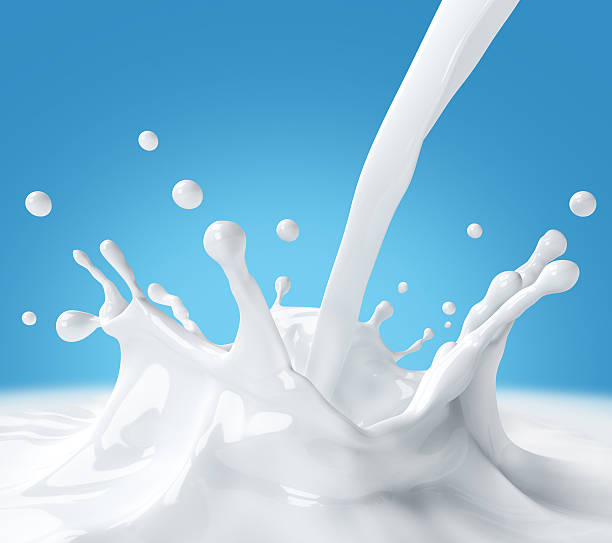 Splash milk stock photo