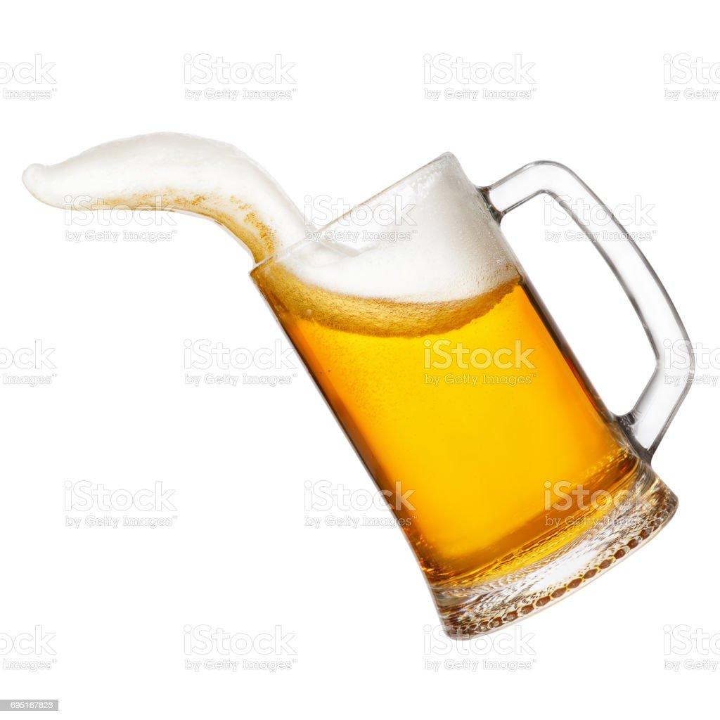 splash of beer foam stock photo