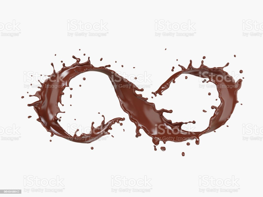 Splash Of Chocolate In Form Of Infinity Symbol For Design Elements