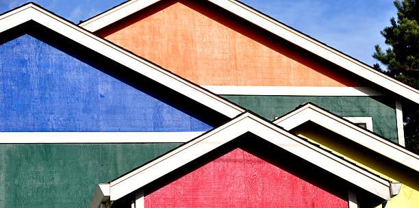 Splash of Color House stock photo