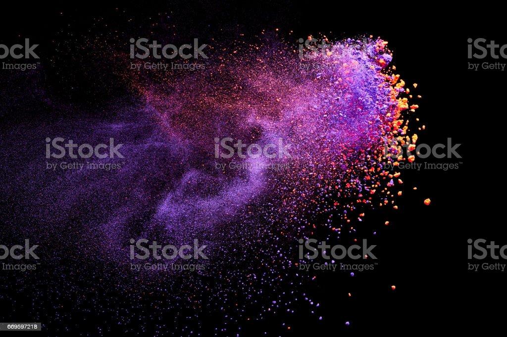 Splash of color powder stock photo