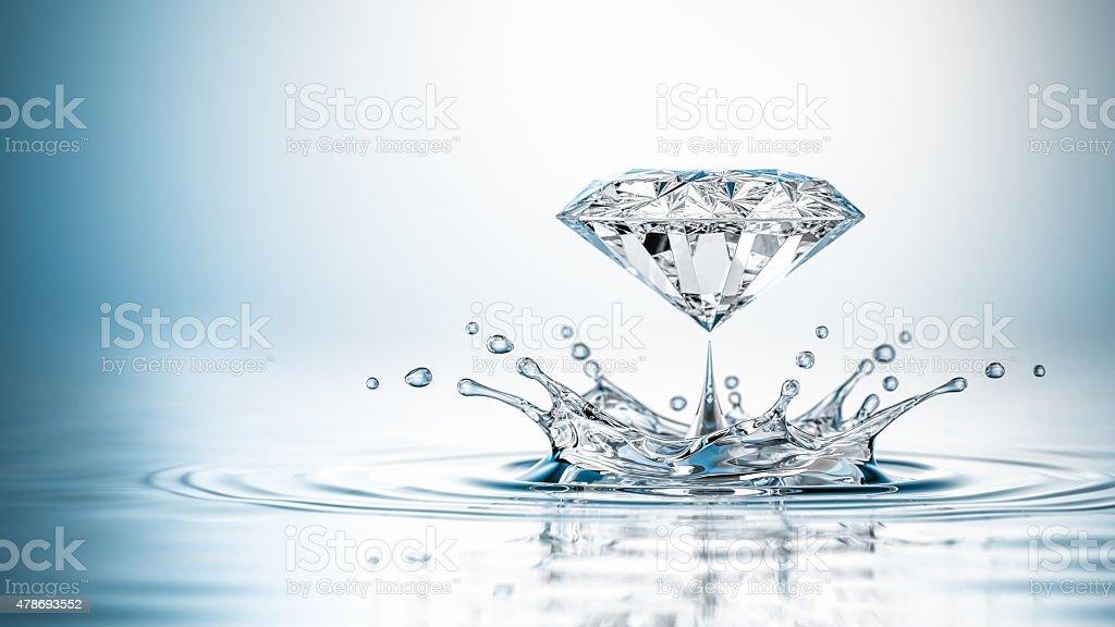 Splash Of Diamond stock photo