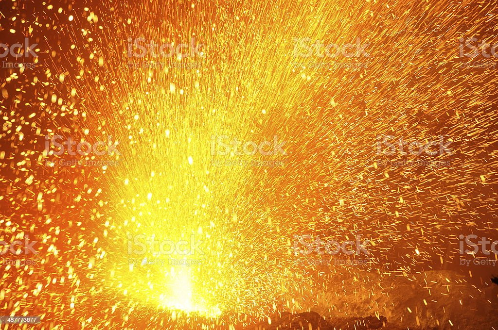 Splash of iron stock photo