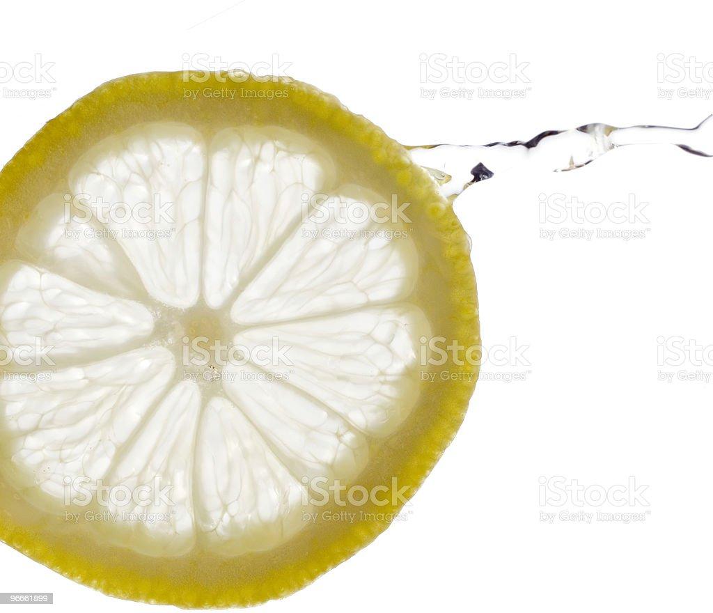 Splash of Lemon royalty-free stock photo