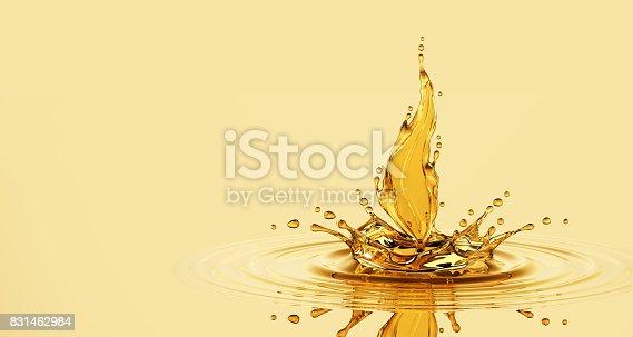 869441068 istock photo Splash Of Oil Leaf 831462984