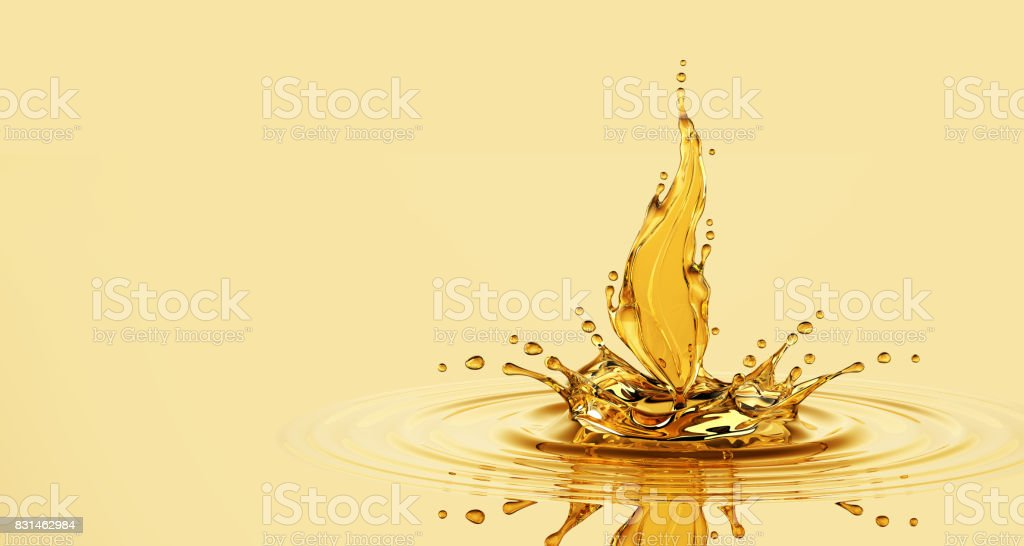 Splash Of Oil Leaf stock photo