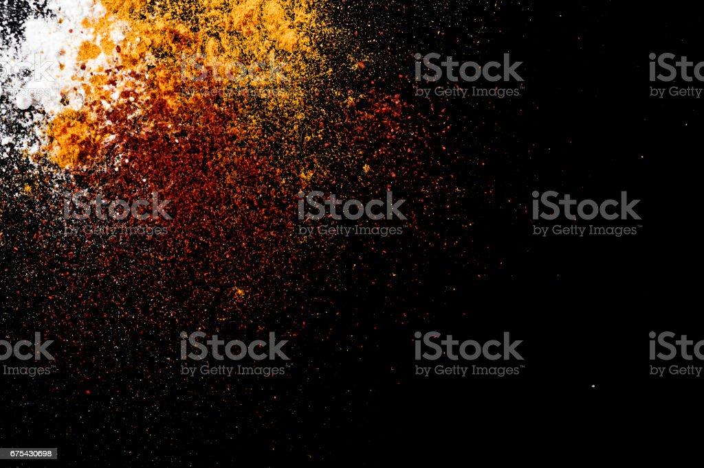 Splash baharat tozu royalty-free stock photo