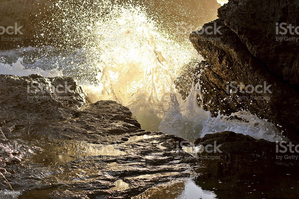 Splash of the Sun royalty-free stock photo