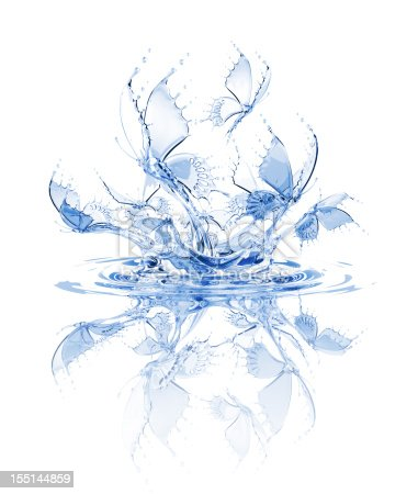 155146839 istock photo Splash Of Water Butterflies 155144859