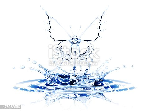 155146839 istock photo Splash of Water Butterfly 476982550