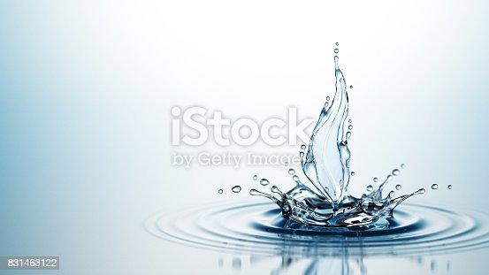 869441068 istock photo Splash Of Water Leaf 831463122