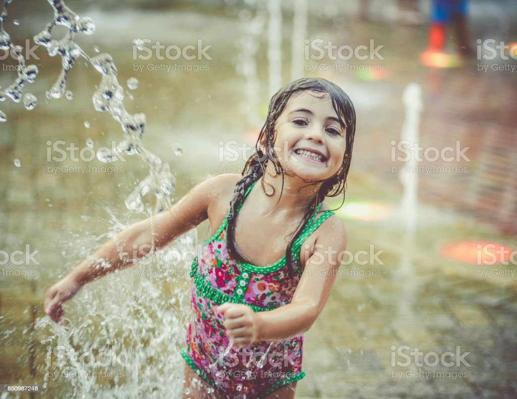 Splash Pad stock photo