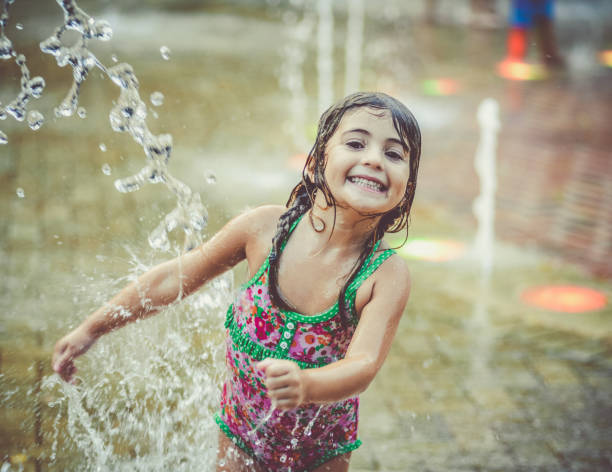 Splash Pad stock photo