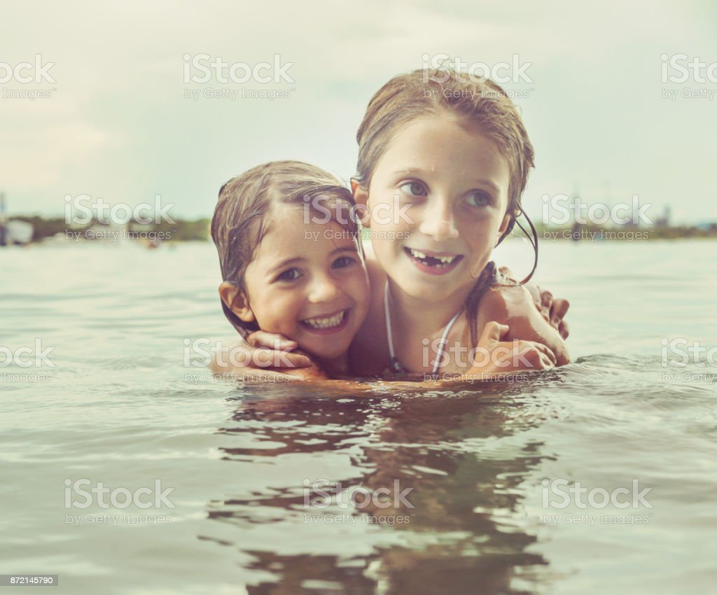 Splash Sisters stock photo