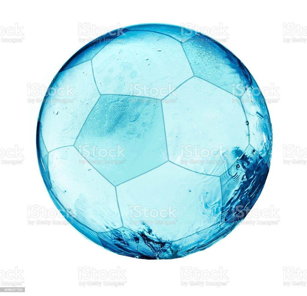 Splash balll de futebol isolado - foto de acervo