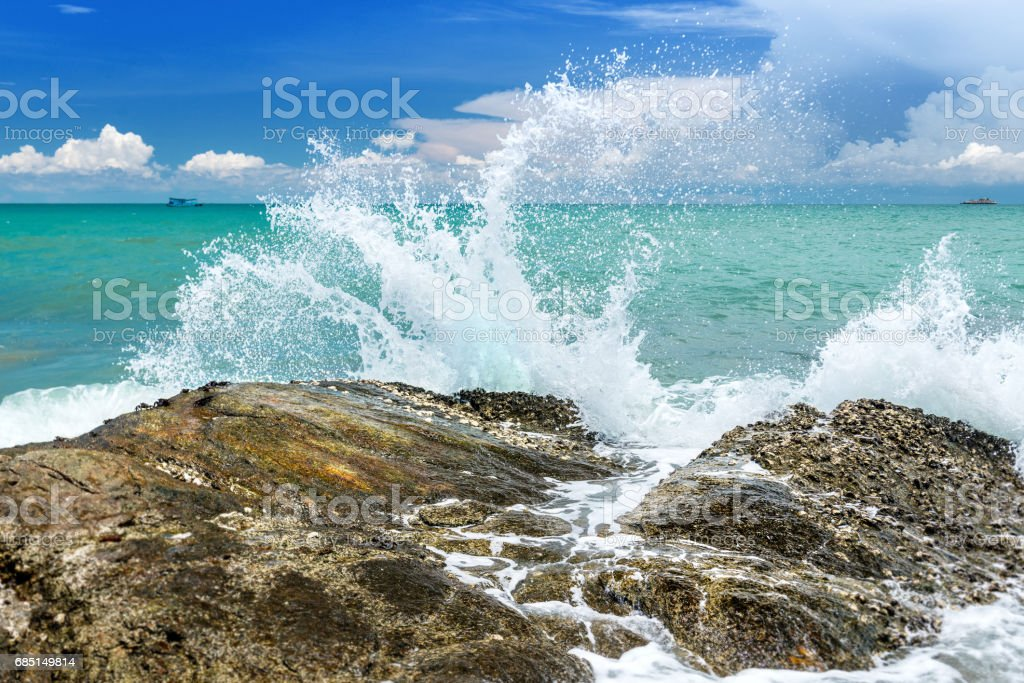 Splash water of sea wave . royalty-free stock photo