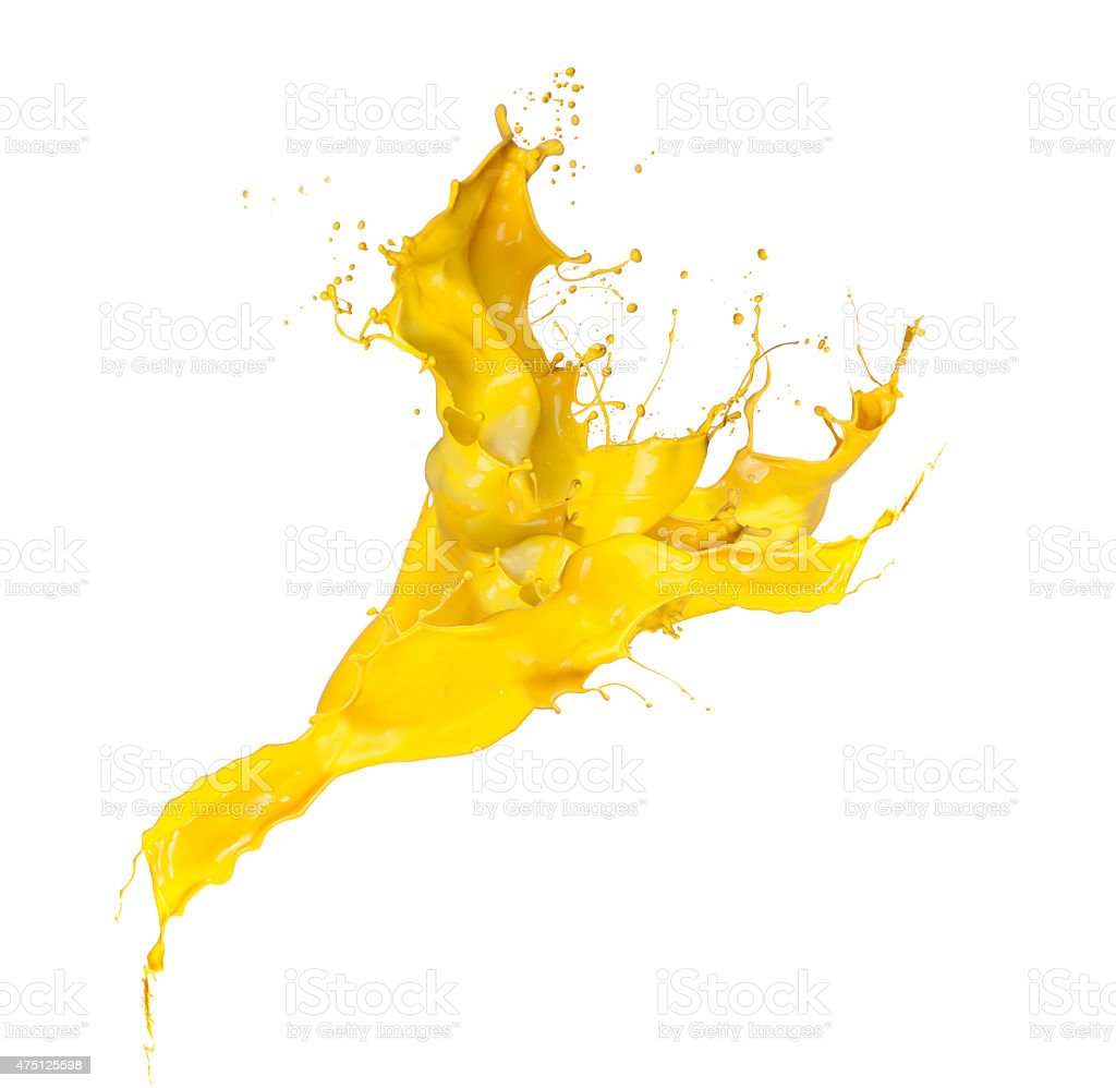 splash yellow stock photo