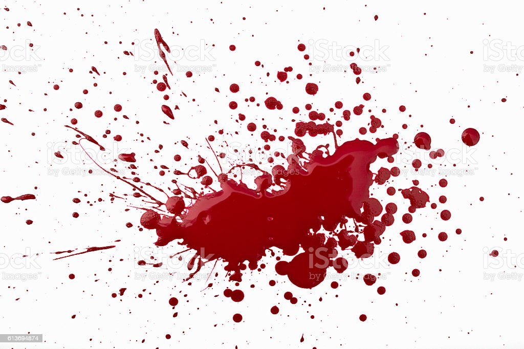splashed red paint stock photo