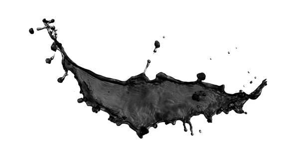 Splashes of dirt. stock photo
