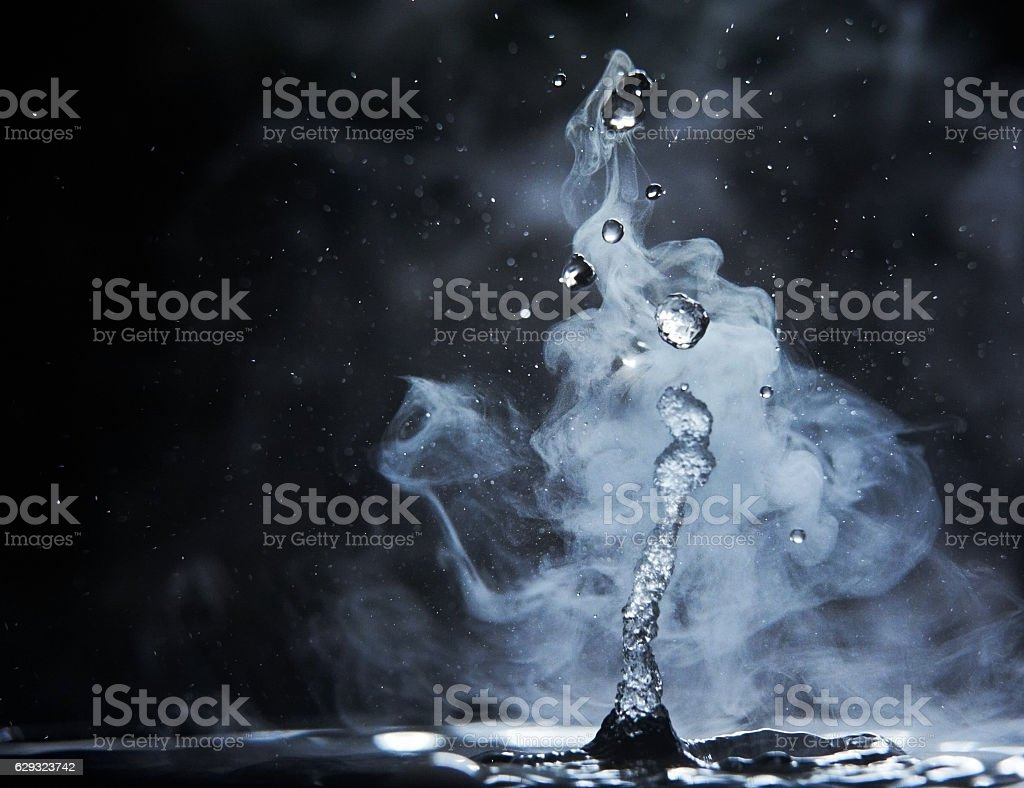 splashes of hot water stock photo