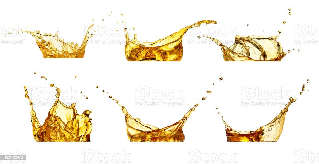 splashes set isolated on white stock photo