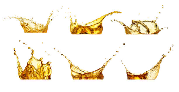splashes set isolated on white - beer alcohol stock pictures, royalty-free photos & images