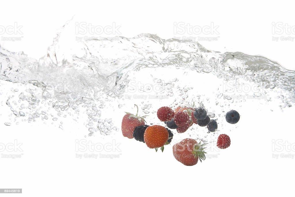 Splashing Berries royalty-free stock photo