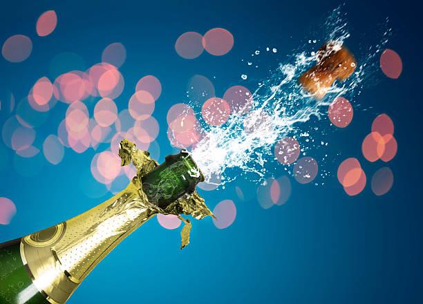 Spritzendes Wasser Champagner – Foto