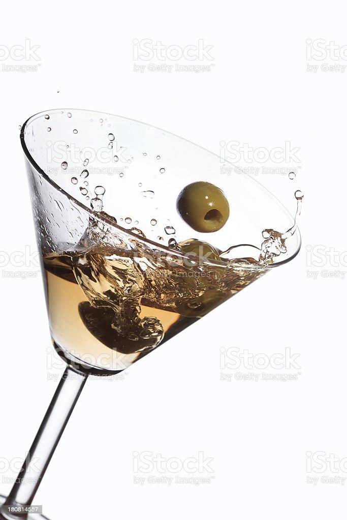 Splashing cocktail royalty-free stock photo