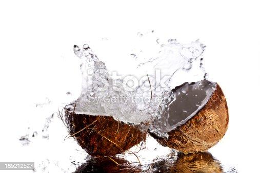 Splashing coconut