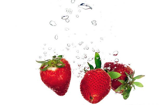 Splashing fruit stock photo