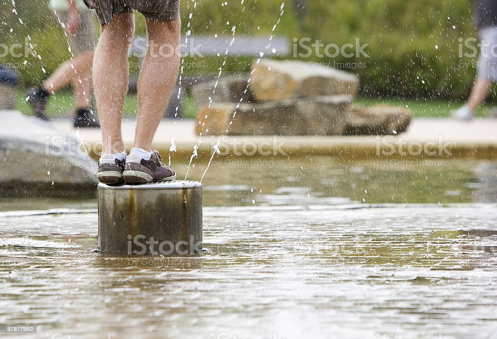 Splashing in the water royalty-free stock photo