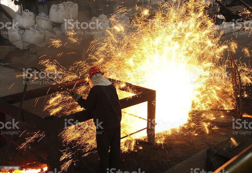 Splashing iron water royalty-free stock photo