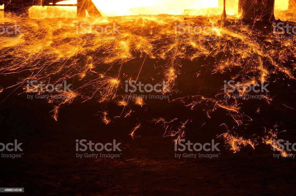 Splashing iron water stock photo