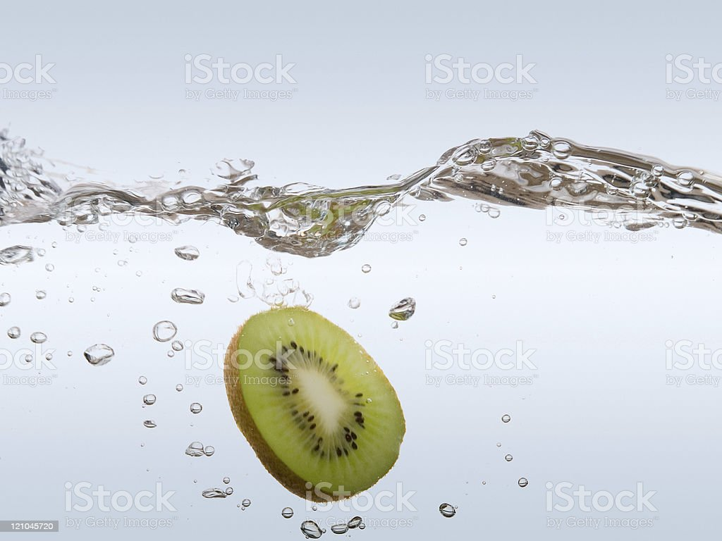 Splashing Kiwi royalty-free stock photo