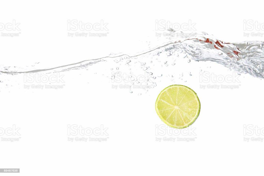 Splashing Lime royalty-free stock photo