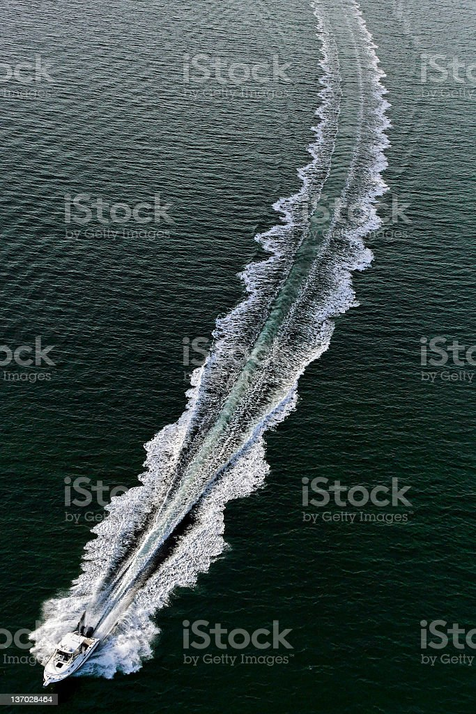 splashing motorboat stock photo
