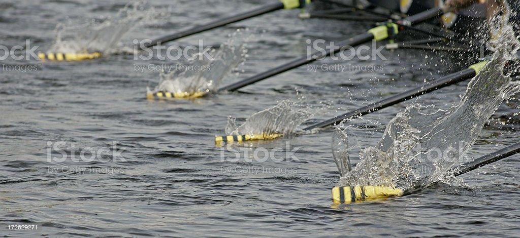 Splashing Oars stock photo