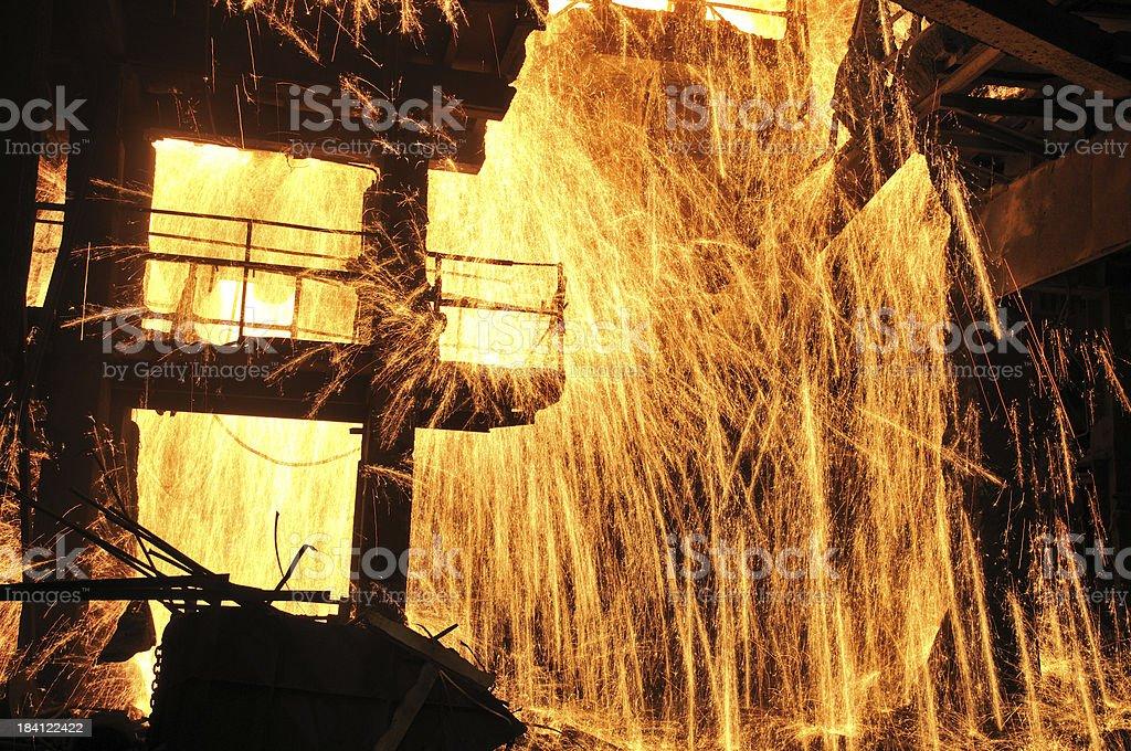 Splashing of steel water royalty-free stock photo
