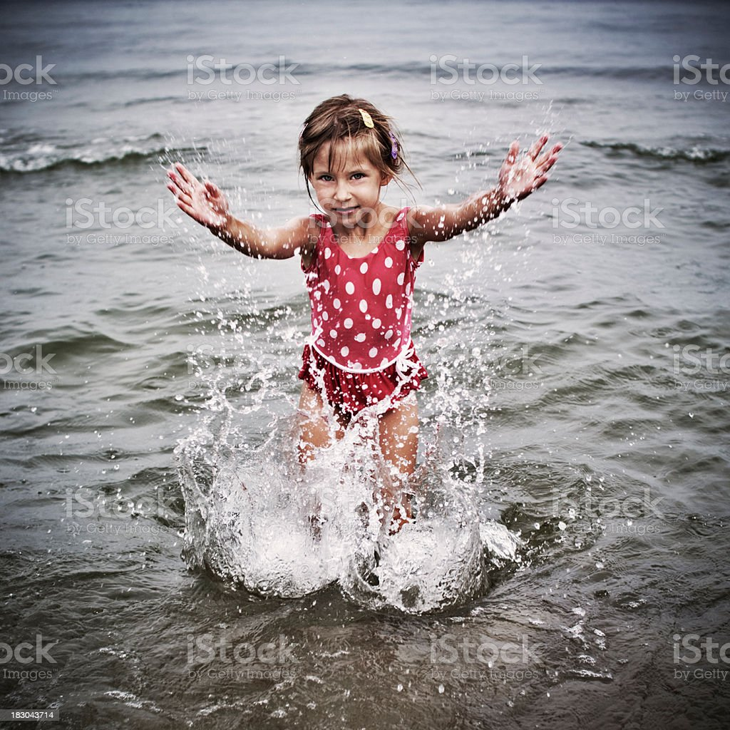 Splashing royalty-free stock photo