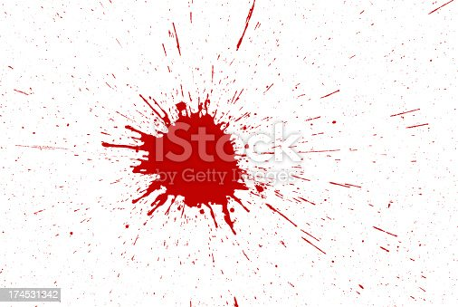 172646637 istock photo Splashing red spot all over background 174531342