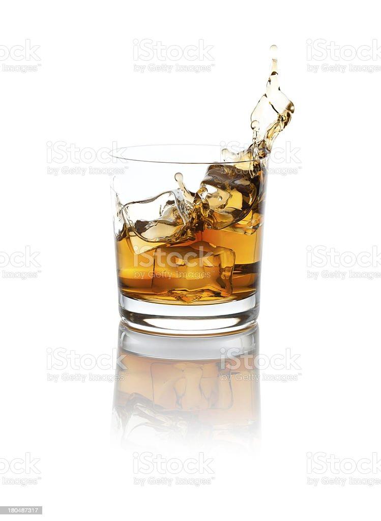 Splashing scotch stock photo