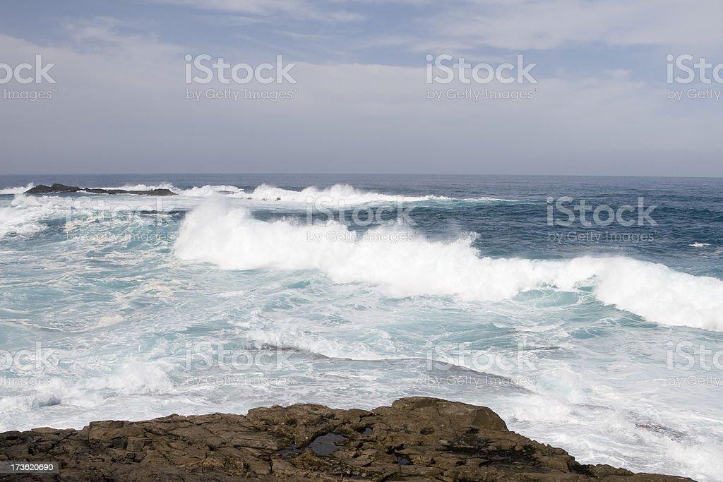 Splashing water in Fuerteventura royalty-free stock photo
