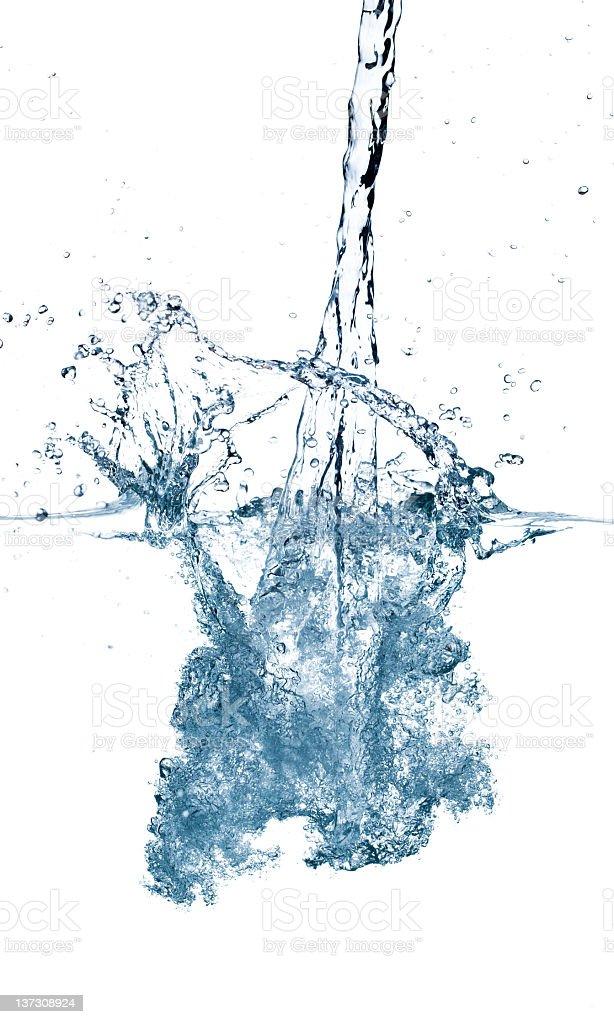 Splashing water isolated on white background royalty-free stock photo