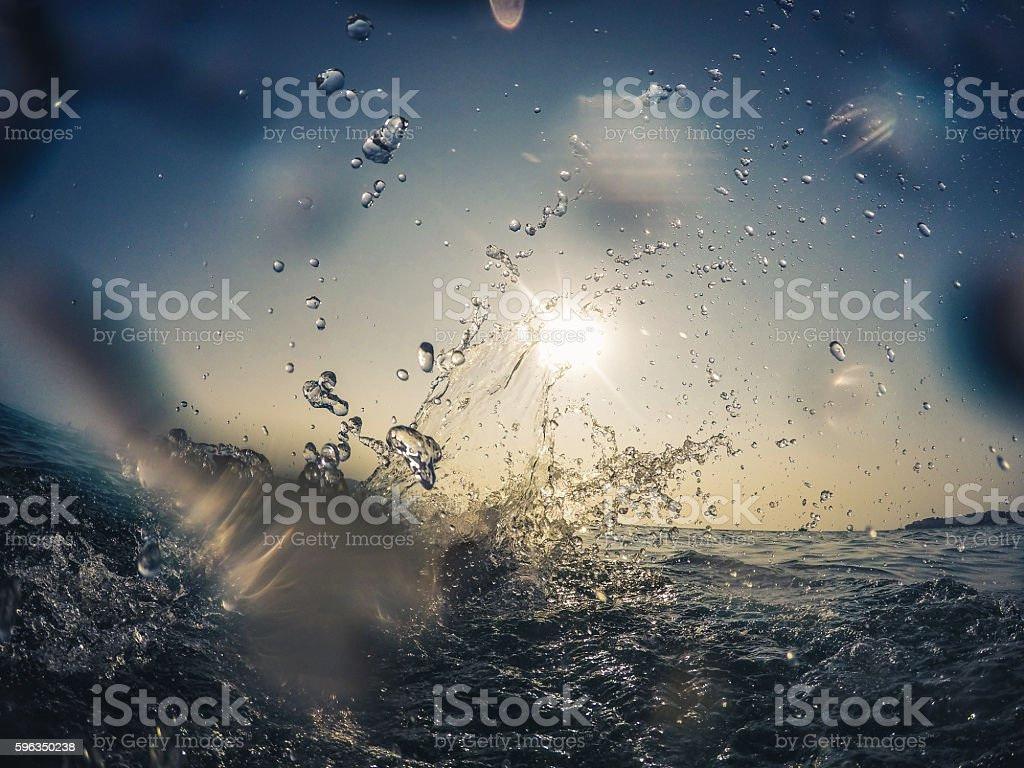 Splashing water royalty-free stock photo