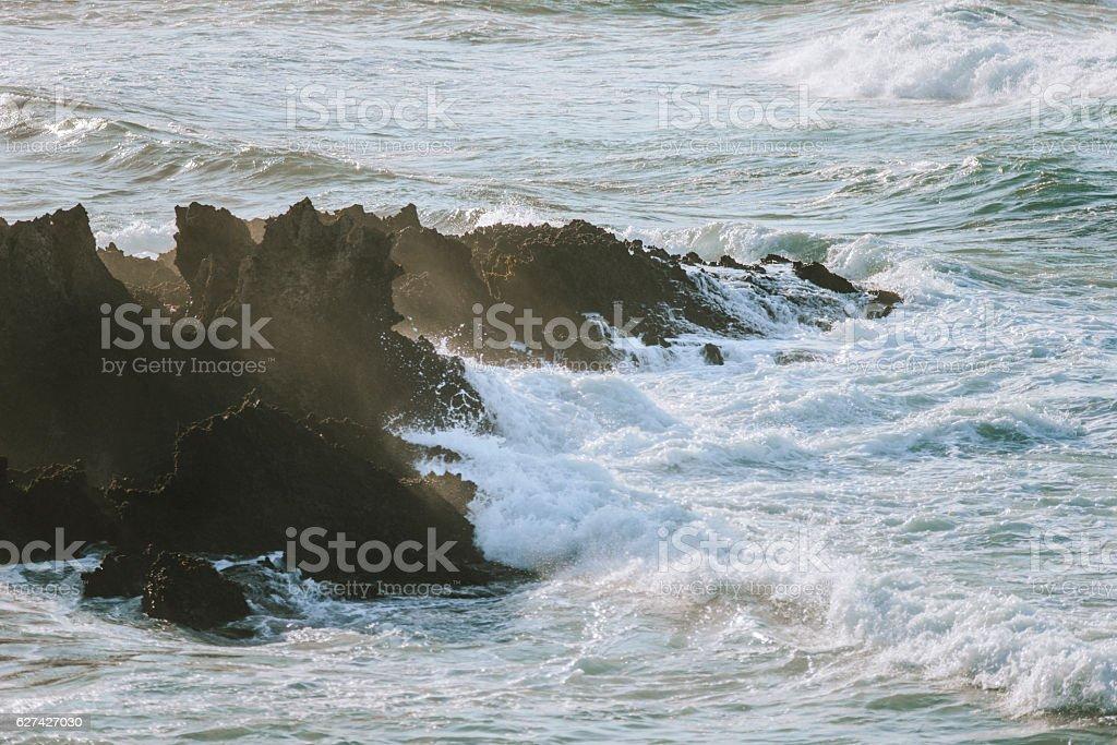 Splashing water. stock photo